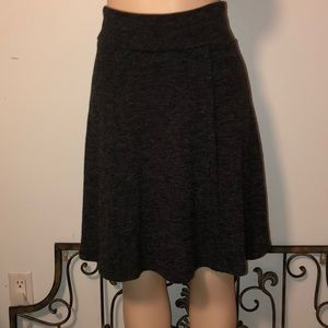 Lapis Grey Knit Sweater Skirt
